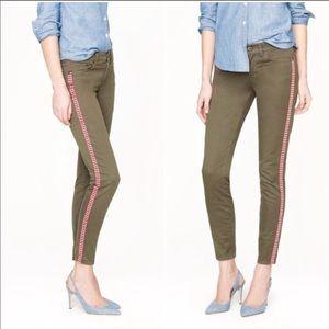 J Crew Tux Stripe Ankle Skinny Pants